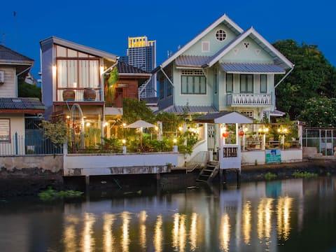 River Front Golden Teak Home,