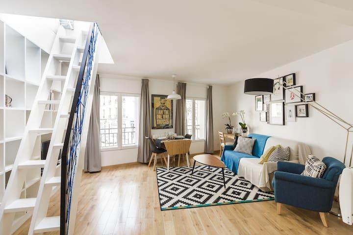 45M2 Grand Terrace Bastille Nation - Paris - Apartment