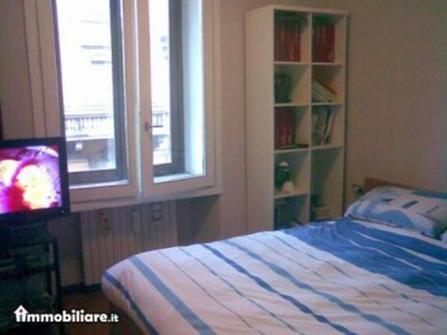 camera da letto molto silenziosa ed accogliente, con letto queen size!