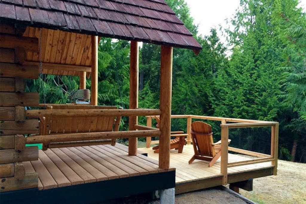 Extended Deck with a view to Saturna Island and Mount Baker