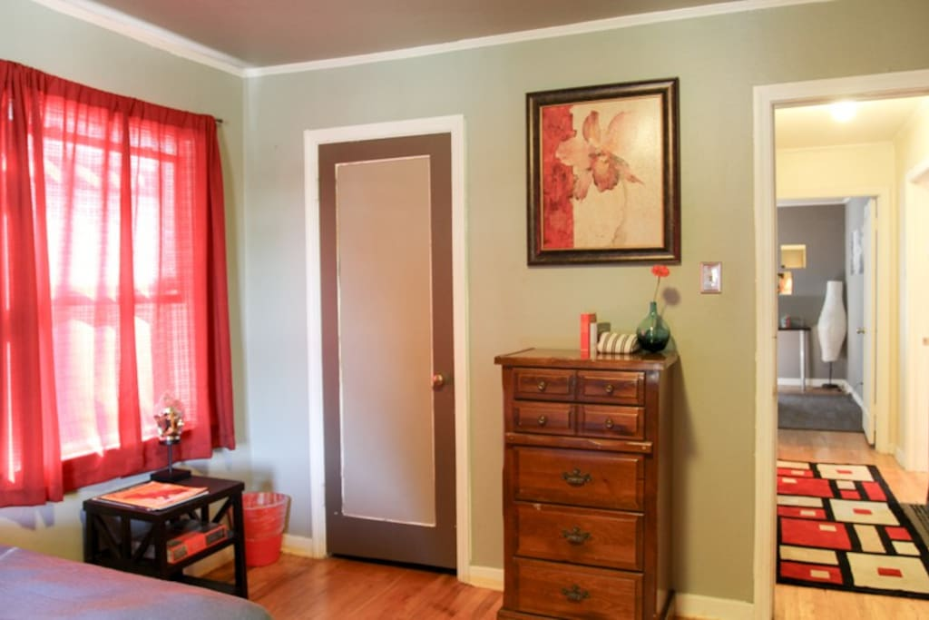 Large room with closet
