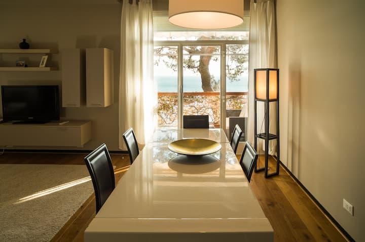 Splendido appartamento a Sori con spiaggia privata