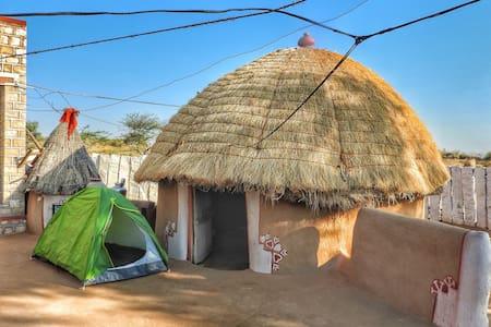 Mud House In Rajasthani Desert Village