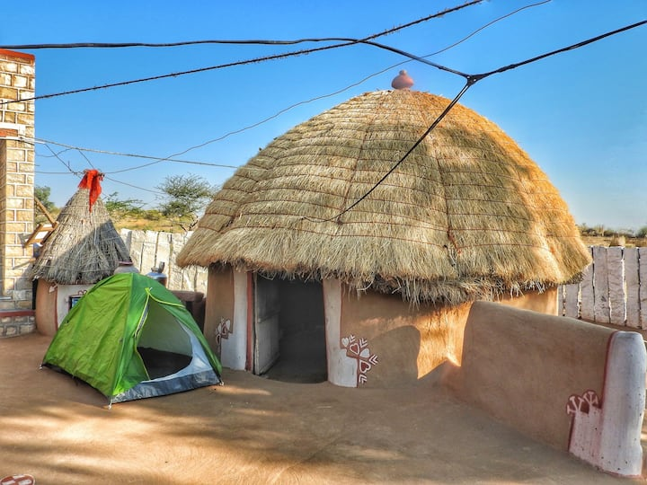 Mud House In Rajasthani Desert Village