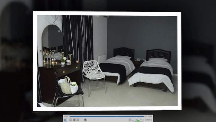 Chambre d'hôtel familiale pour quatre personnes