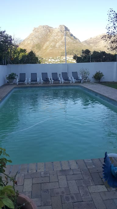 Great pool to swim in and relax beside.  Gets great sun during the day so a warm temperature.