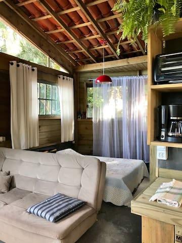Dormitório + sofá-cama