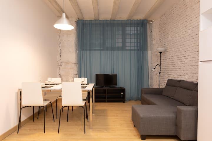 Nice renovated apartment near Ramblas with wifi