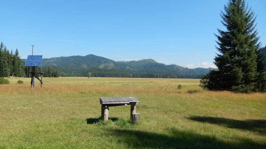 View of Tola Ridge from cabin front porch.