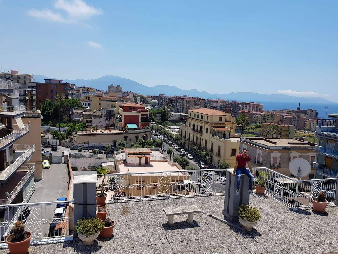 *TOP-VIEW by  ROOF OF MY PRIVATE PENTHOUSE! (CASAFLORACONDO IS LOCATED ON HIGH FLOOR IN THE BUILDING THAT YOU CAN SEE TO THE LEFT IN THIS PHOTO! I'm working to make a solarium and let you access in a near future on that roof.