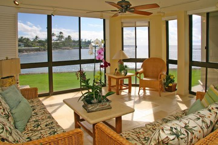 Wow! Best Oceanfront Location Condo - Poipu - Leilighet
