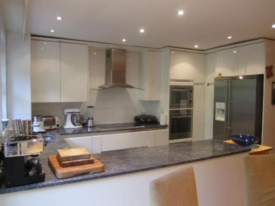 Kitchen / dining room opens to garden