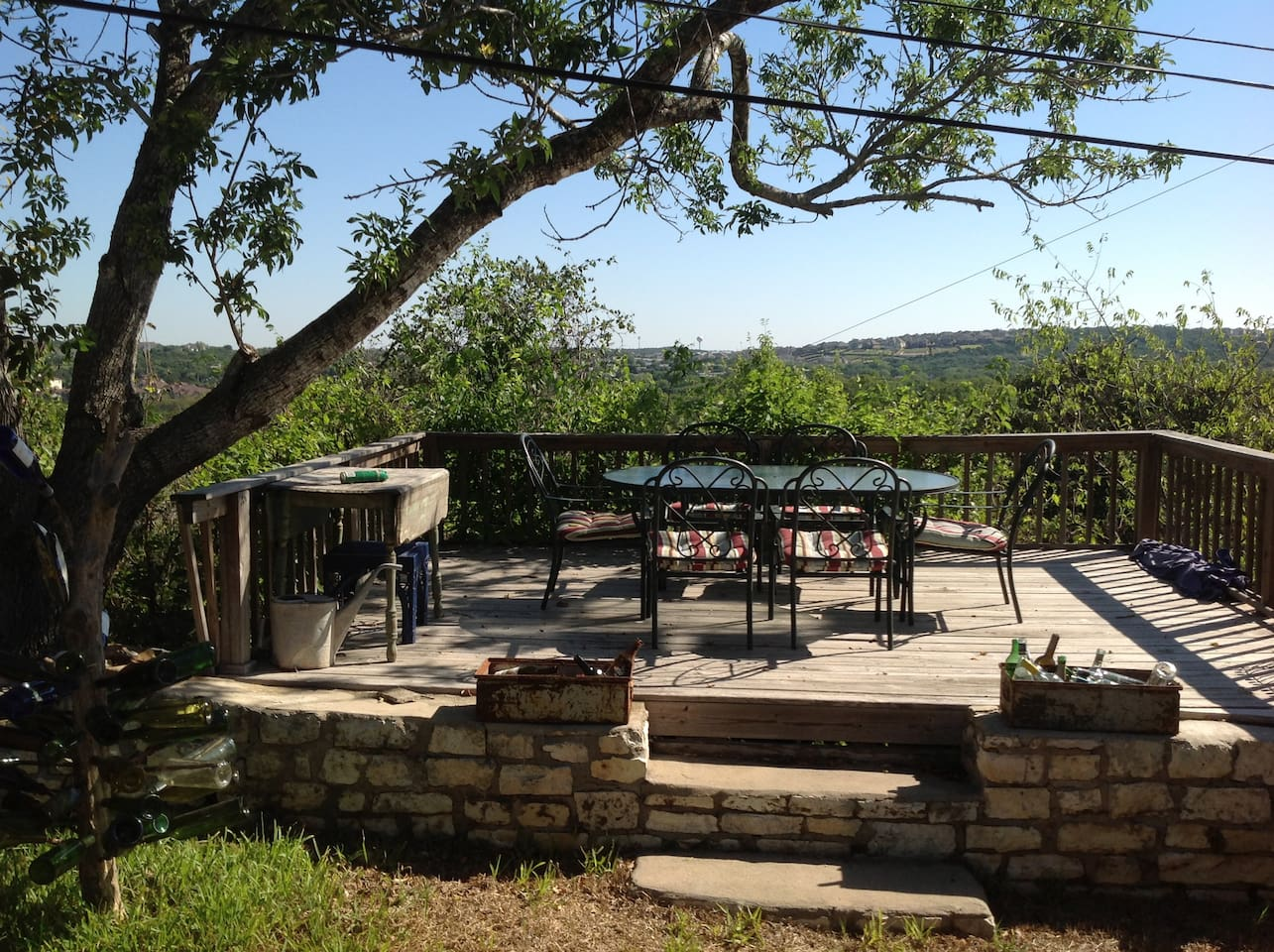 Deck with views of the hills in Austin