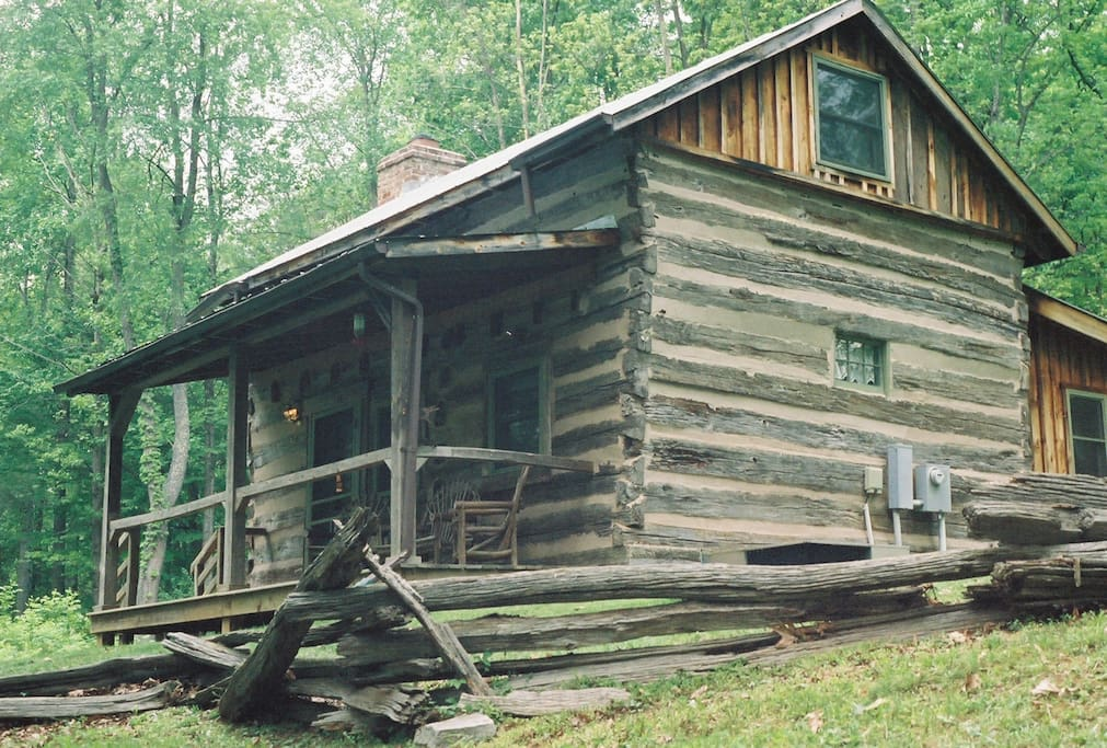 Adventure in log cabin cabins for rent in for Cabin cabin vicino a lexington va