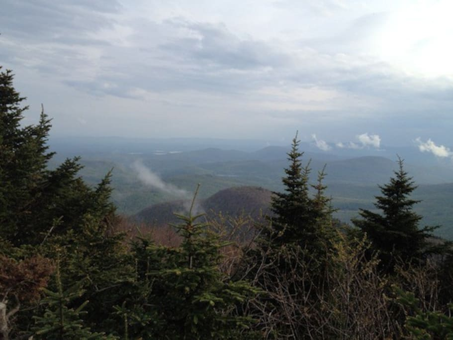 The view from atop Sugarloaf, the Catskill peak that sits behind the house, and that you can hike to from the yard.