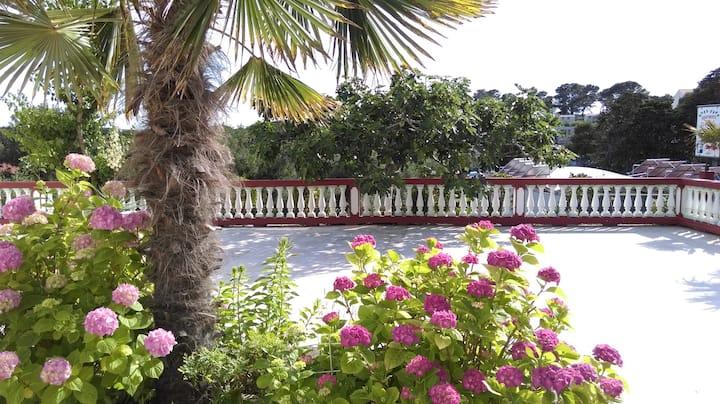 Apartment with spacious terrace (near sandy beach)