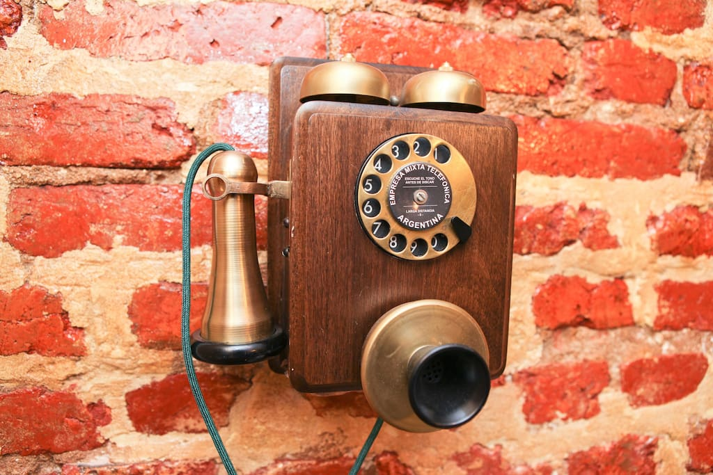 Collector of antiques.  This working phone is from Argentina.