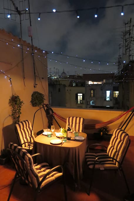 Have a dinner on the terrace under the stars