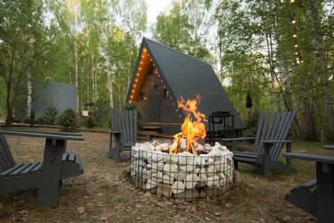 Kedr Camp - дом (A-frаme ) в лесу  (40 км от Уфы)
