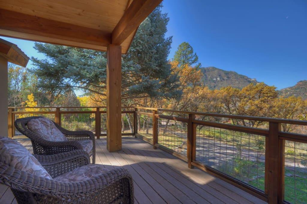Durango Colorado Luxury Vacation Rental Home Balcony w Mountain Views