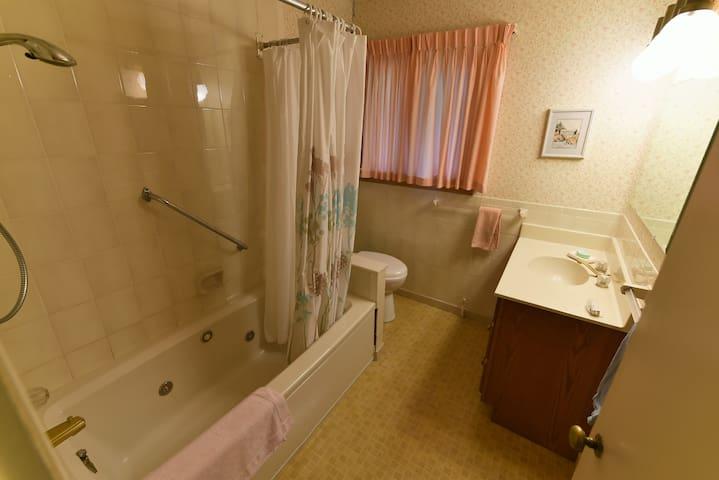 Full bath on the main floor