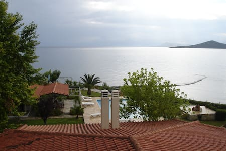 (Δ2) studio 2 (52 m2), priv. beach,swim.pool and - Livanates