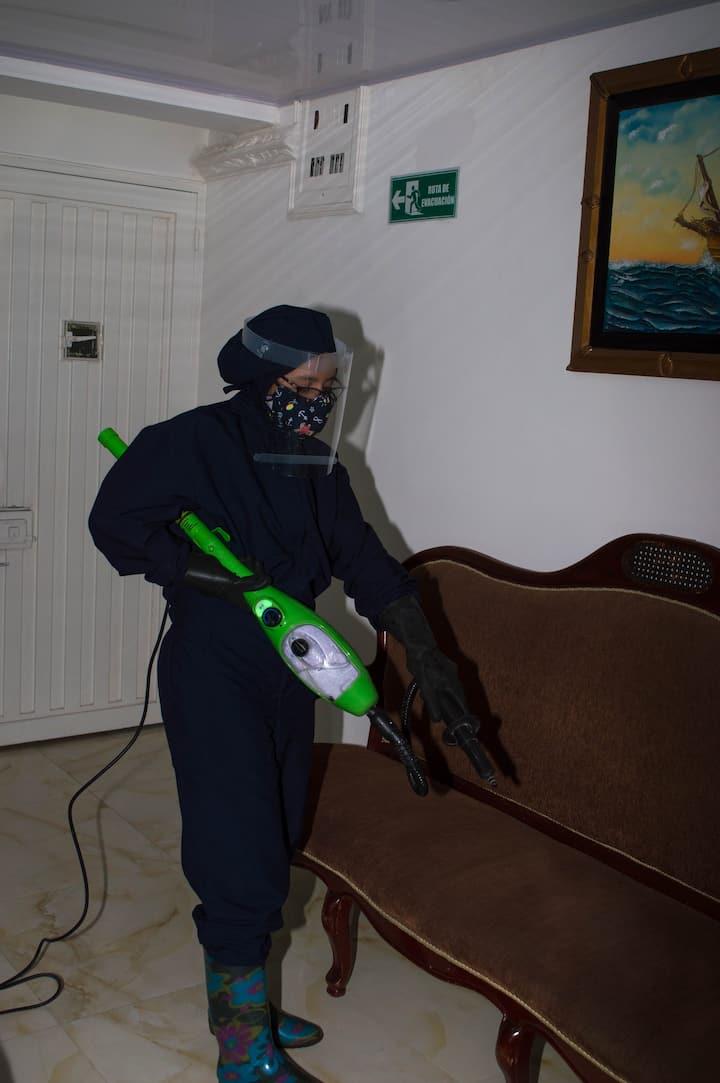 Seguridad  protocolos de limpieza Cerca aeropuerto