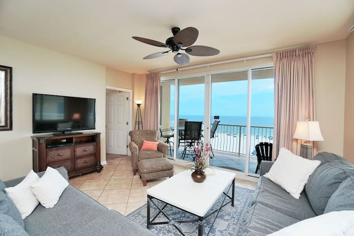 Gulf Front! Beautifully Decorated, Spacious, & Fabulous Views! - Emerald Key #403
