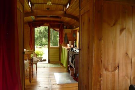 Zirkuswagen in der Natur über dem Egertal - Thierstein - Altres