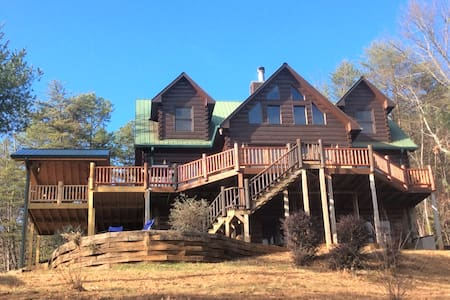 TOTALLY Private 5BR Luxury Lodge w/Stunning Views! - Ellijay - Ev