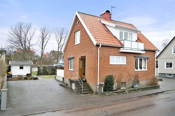 Red brick house in Falkenberg Centrum