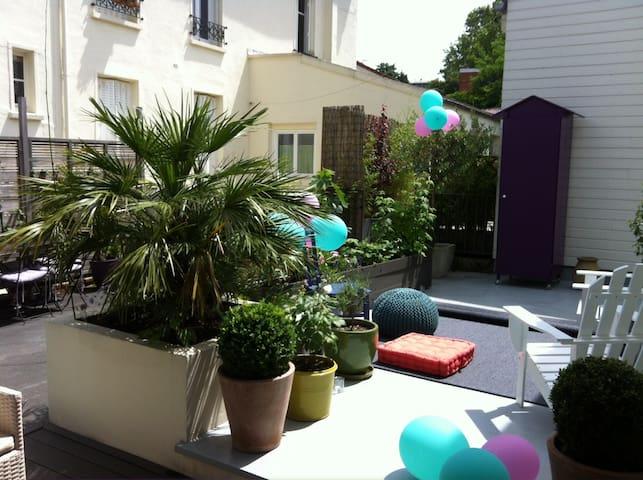 Loft au calme avec terrasse