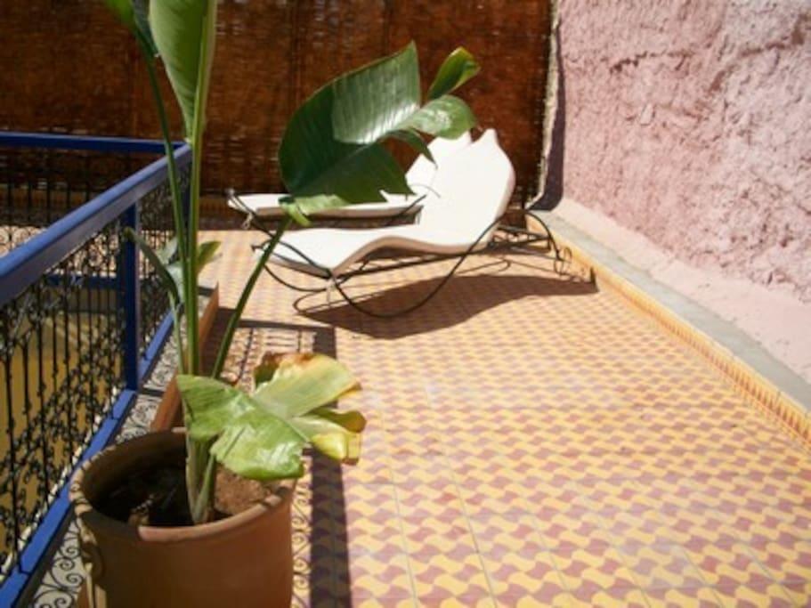 Terrasse  Riad  en exclusivité la nuit 110€/nuit pour 8 personnes