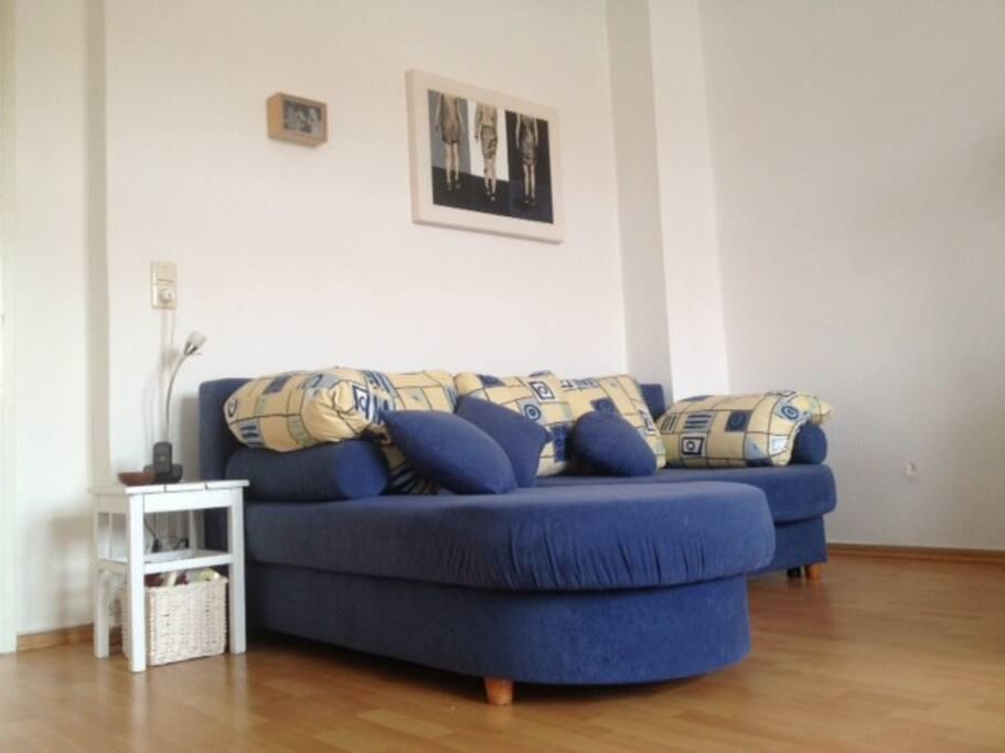 Bequemes Sofa mit Schlaffunktion