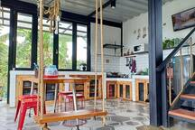 Kitchen & Dinning area.. plus swing chair..