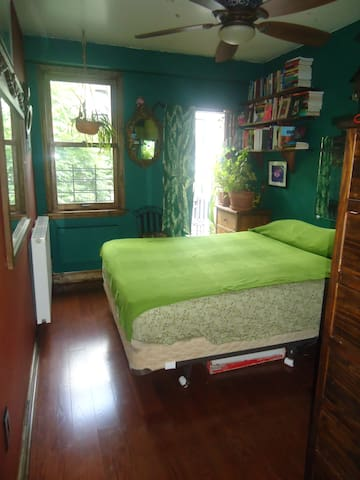 Large sunny room queen bed &balcony - New York - Apartment