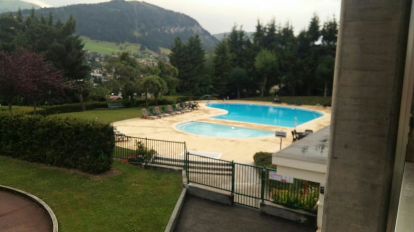 Mountain studio with pool - Megève Jaillet