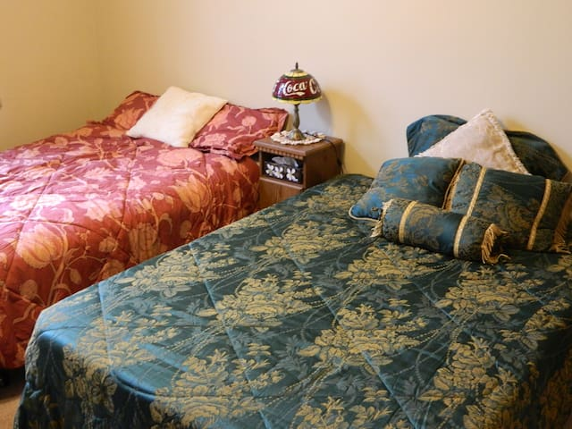 Country Setting Coca Cola Bedroom