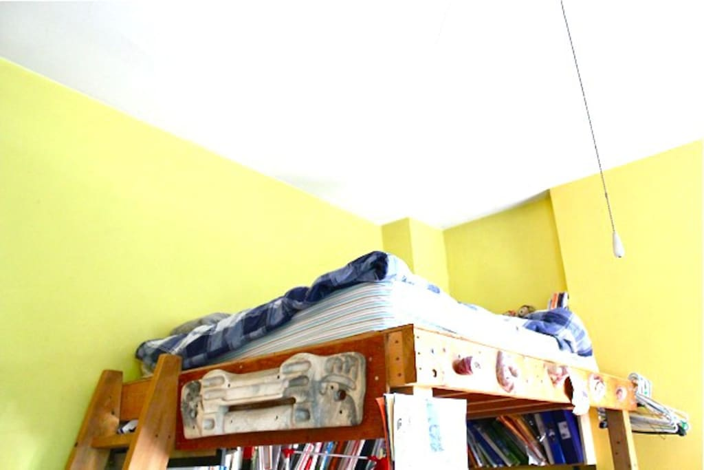Loft bed (a view from below)