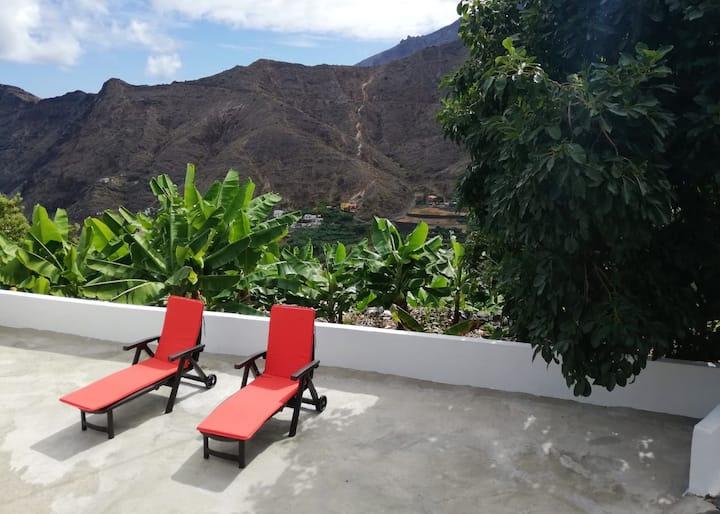 Casa Lita with views of the Atlantic
