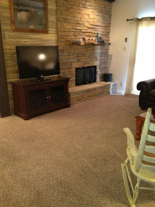 Living room with new carpet!