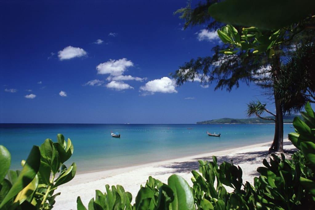 Bang Tao, our local beach