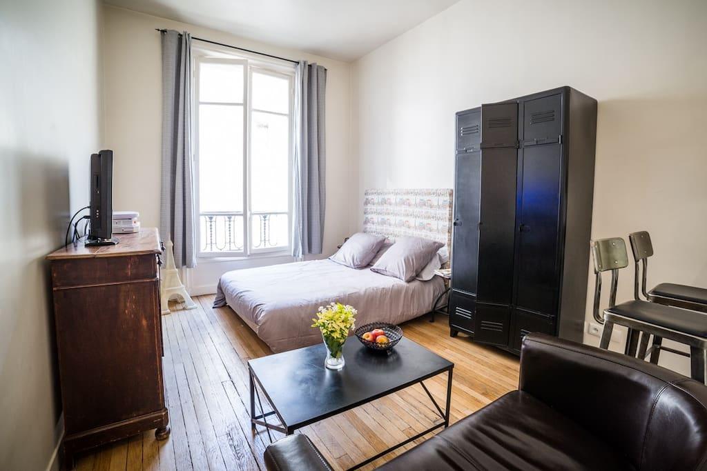 Appartement très lumineux et calme donnant sur une cour intérieure