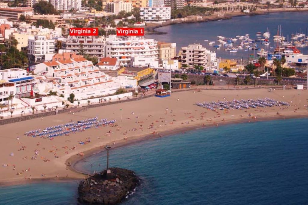 Centrico a 50m de la playa v1110 apartments for rent in arona canary islands spain - Apartamentos en arona tenerife sur ...