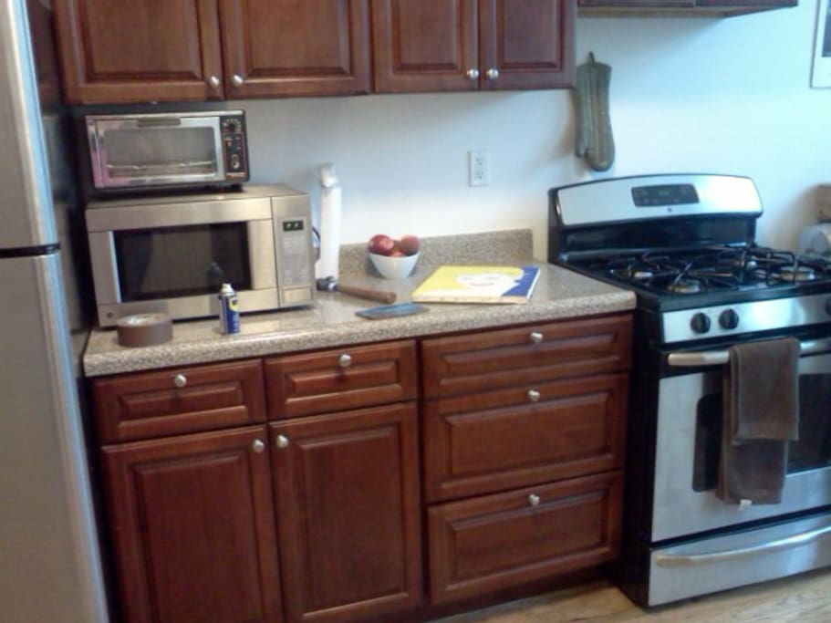 Awesome stainless steel appliances!