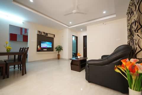 Premium Suite-1 BHK Service-appartement 2Volwassene+1Kind