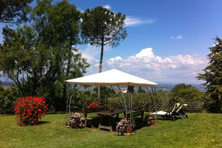 Panoramic apartment in the heart of Tuscany - Montaione