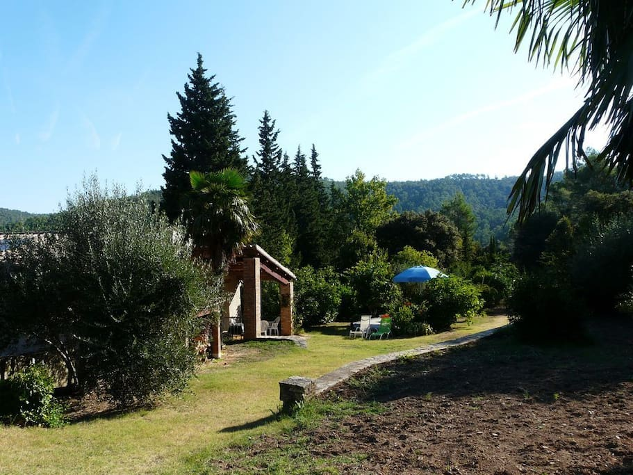 View of garden area that is included with gite rental