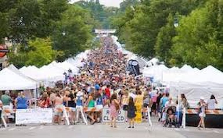 Festival fever a few steps out your door.