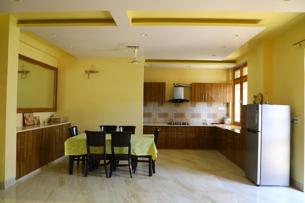 Dining Space with Modular Kitchen